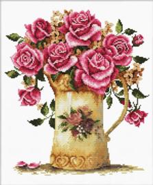 Antique Flower Vase Voorbedrukt borduurpakket - Needle Art