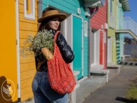 Market Bag Gehaakt Durable Coral