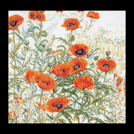 Orange Poppies evenwave Telpakket Thea Gouverneur