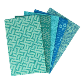 Tranquil Teal  Fat Quarter Bundle Tissu de marie