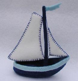 Delfts blauw bootje Atelier Pippilotta