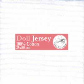 """White Doll Jersey 25x80cm / 9.8""""x31.5"""""""