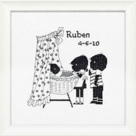 Jip & Janneke geboortetegel Ruben