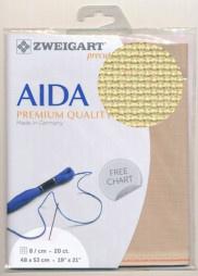 Ecru Zweigart Aida 8kr/cm - 20ct 48x53cm