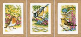 Miniatuur Vogels in de tuin Aida Borduurpakket Vervaco