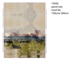 landschap met koeien Paneel Stenzo