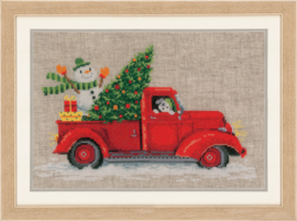 Kersttruck linnen Vervaco Telpakket