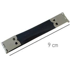 9cm Portemonnee sluiting plat