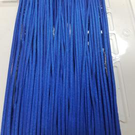 651 Donker Blauw met Glitter 3mm Imitatieleer Band  p.m.
