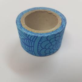 Blauwe Simpele Bloemen 2mx30mm Pimptape Oaki Doki