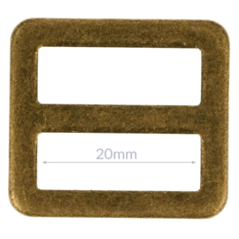 20mm Gesp metaal Bronze