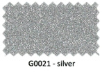 Glitter flexfolie Silver g021