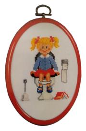 Meisjes wc Aida Telpakket met Kunststoflijst Vervaco