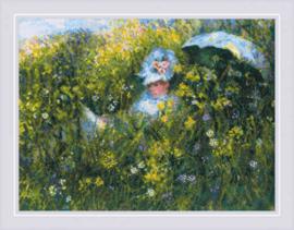 In the Meadow after C. Monet Aida Borduurpakket - Riolis 1850
