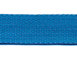 Blauw 25mm Cotton Look Tassenband