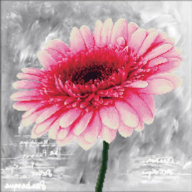 Pink Dahlia Voorbedrukt Borduurpakket Needleart World