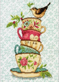 Stacked Tea Cups Aida Dimensions Telpakket