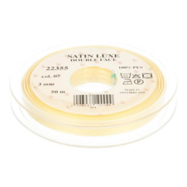 07 3mm Lint Satin Luxe Double face p.m. / per 3.3 feet