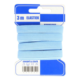 Licht blauw elastiek