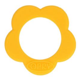 Gele bloem Siliconen kraal 40mm