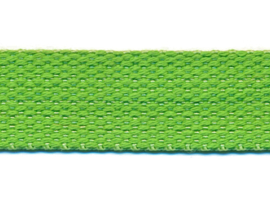 Appelgroen 25mm Cotton Look Tassenband