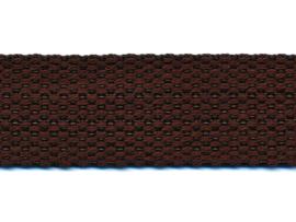 Donker bruin 25mm Cotton Look Tassenband