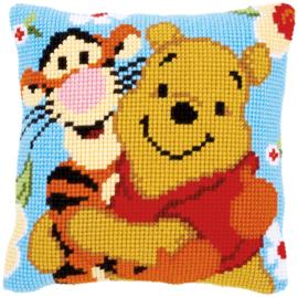 Winnie the Pooh en Tijgertje Kruissteekkussen Vervaco