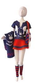 Tiny Mickey Red & Blue Disney Dress Your Doll