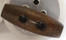 20mm Donkere Houten Knebel Knoop