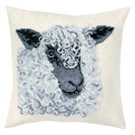 Grey Sheep Telpatroon kruissteekkussen - Permin