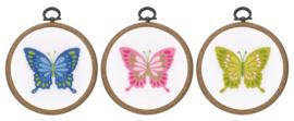 Vlinders Vervaco Telpakket met Borduurringen