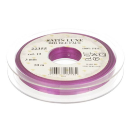 19 3mm Lint Satin Luxe Double face p.m. / per 3.3 feet
