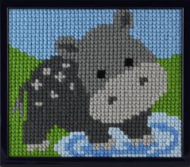 Nijlpaardje Voorbedrukt voor kinderen Pako