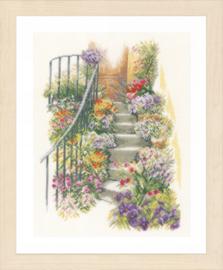Flower Stairs Linen Lanarte