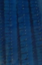 Blauwe 30cm Chenille/ Pijpenragers