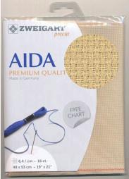 Ecru Voorgesneden Aida 16ct - 6.4 kr/cm 48x53cm