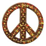 109 Gouden Peace Teken ReStyle Paillet Applicatie