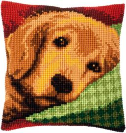 Slaperig hondje Voorbedrukt kruissteekkussen - Vervaco