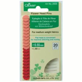 20 Flower Head Pins Clover