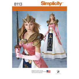 8113 H5 Strijdlustige prinses Simplicity (32-40)