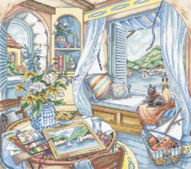 Window Seat Aida Leti Stitch Telpakket