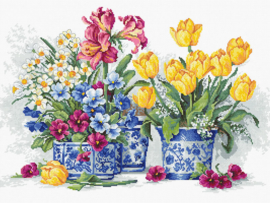 Spring Garden Aida borduurpakket - Luca-S