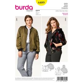 6489 Jacket Burda style Geel