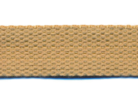 Zand/Beige 25mm Cotton Look Tassenband