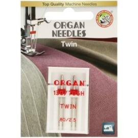80/2.5 Tweeling Naalden Organ Needles