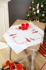 Kerstkabouters Voorbedrukt tafelkleed Vervaco