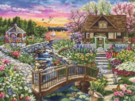 Spring blooms on the lake aida borduurpakket - Luca-S
