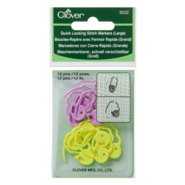 Large Quick Locking Stitch Markers Clover