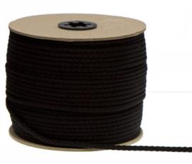 5mm Zwart Katoen Koord