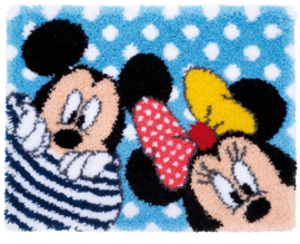 Mickey en Minnie Kiekeboe Knoopkleed Vervaco